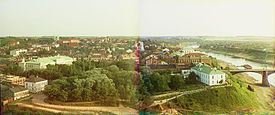 Vitebsk c. 1912; panoramic composite of Prokudin-Gorskii images