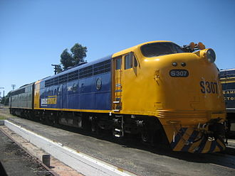 Victorian Railways S class (diesel) - Pacific National liveried S307 at Newport Workshops in March 2008