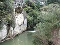 Pakoka River limestone cliff.JPG