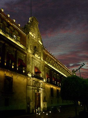 National Palace (Mexico) - Palacio Nacional at night