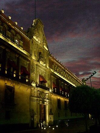National Palace (Mexico) - Palacio Nacional at night