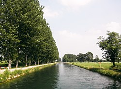 Typical canal in the countryside of Pandino