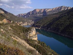 Noguera Pallaresa - Camarasa reservoir in the Noguera Pallaresa river