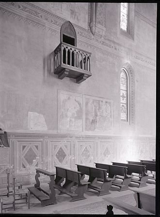 Collegio di Spagna - Interior of the Saint Clement's Chapel. Photo by Paolo Monti, 1970.