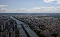 Paris View from the Eiffel Tower third floor Seine downstream 06.jpg