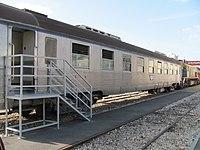 Passenger coach Carel-Fouche No. 93 Stainless steel Israel Railways Museum.jpg
