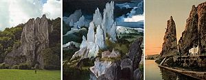 World landscape - Rocks at Dinant and in a Patinir detail