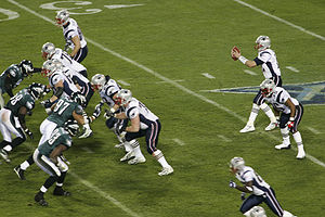 Shotgun formation - Tom Brady in the shotgun at a Super Bowl.
