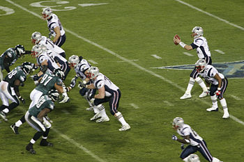 Patriots on offense at Super Bowl XXXIX 1