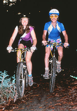 The Great Mountain Biking Video - Patty Mooney and Mark Schulze Marry on Mountain Bikes in Cleveland National Forest, 1987 - Photo by Rolf Schulze