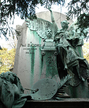 Antonin Mercié - Monument to Paul Baudry, Père Lachaise Cemetery, Paris