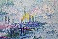 Paul signac, il porto di rotterdam, 1907, 03 barche.jpg
