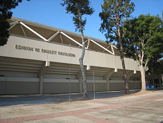 Venues of the 1984 Summer Olympics - North side of Pauley Pavilion in 2008. It hosted the gymnastics events for the 1984 Summer Olympics.