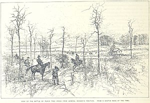Battle of Peachtree Creek - The battle as seen from General Hooker's position