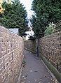Pedestrian Cut - through - geograph.org.uk - 610822.jpg