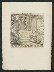 Pilgrims praying to Saint Judocus