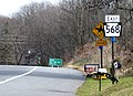 Pennsylvania Route 568 first eastbound shield.jpg