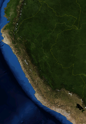 Geography of Peru - Satellite map of Peru