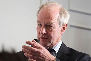 Peter Lilley - Image: Peter Lilley MP, asking a question from the audience (15765548995)