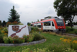 Pfungstadt Railway - Bombardier Itino set of VIAS near the exit from Pfungstadt station