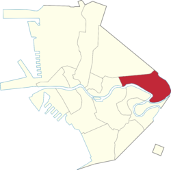 Location of Santa Mesa