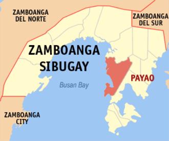 2007 Basilan beheading incident - Map of Zamboanga Sibugay showing the location of Payao.