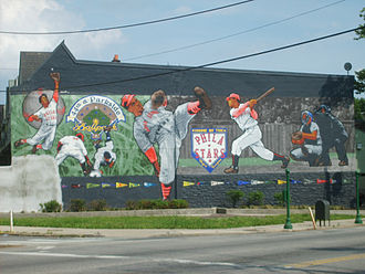 44th and Parkside Ballpark - Philadelphia MuralArts Philadelphia Stars mural by David McShane at Belmont and Parkside Avenues. Photo May 24, 2011.