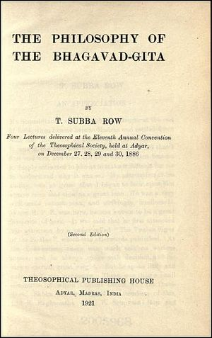 T. Subba Row Collected Writings cover