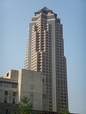 Downtown Des Moines - 801 Grand is the tallest building in Iowa and is home to Principal Financial Group.