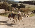 Photograph of President Reagan and Mrs. Reagan Horseback Riding at Racho Del Cielo - NARA - 198533.tif