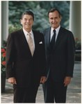 Photograph of the Official Portrait of President Reagan and Vice-President Bush - NARA - 198518.tif