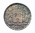 Pièce Charles X Roi de france 1 Franc 1830 verso.JPG