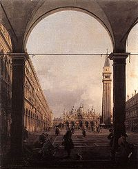 Piazza San Marco Looking East from the North-West Corner c1760 Canaletto.jpg
