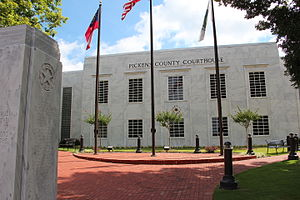 Pickens County, Georgia - Image: Pickens County Courthouse, Georgia 2015