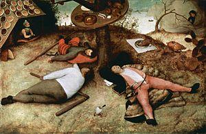 Trois petites pièces montées - Pieter Bruegel the Elder, The Land of Cockaigne (1567)