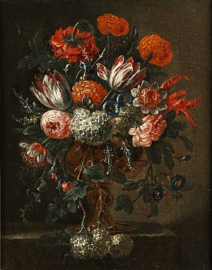 Pieter Casteels III - Still life with flowers