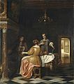Pieter de Hooch - Interior with a Gentleman and Two Ladies Conversing.jpg