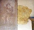 Pieve di cercina, esterno, loggiato, putti e stendardo forse del xviii secolo.jpg