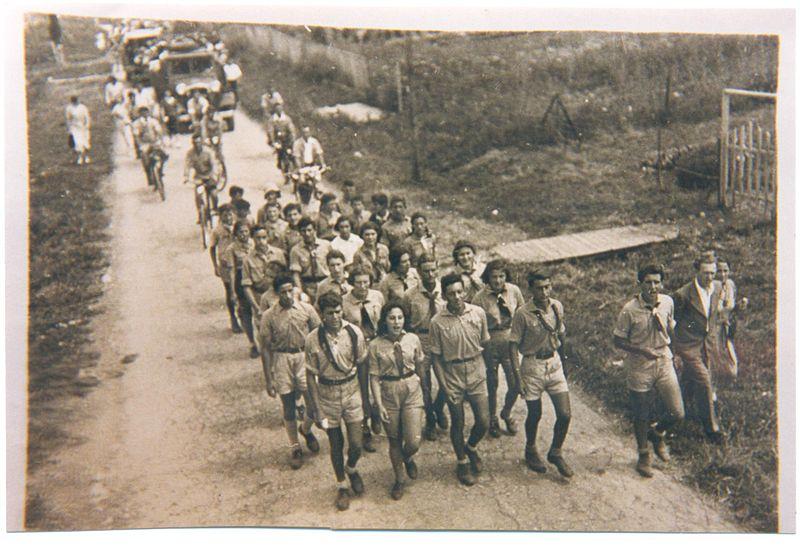 תהלוכה של השומר הצעיר בכפר אתא