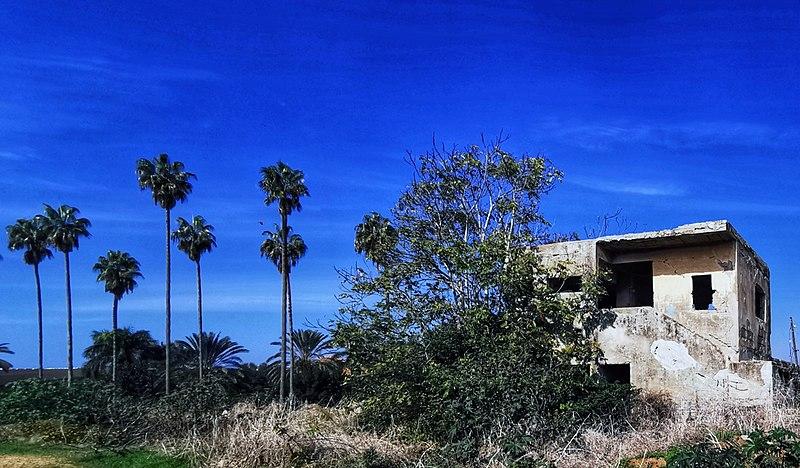 מבנה ישן בשדות נס ציונה