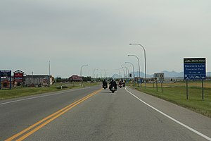 Pincher Creek - Image: Pincher Creek AB looking south on AB6