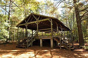 Pinewoods Dance Camp - Newbiggin dance pavilion at Pinewoods
