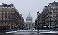 Place Edmond Rostand et Panthéon sous la neige.jpg