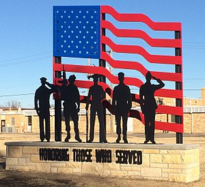 Plainville, Kansas - Image: Plainville Kansas Veterans Memorial (2)
