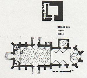 Saschiz fortified church - The church plan