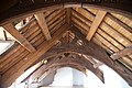 Plas Mawr - interior, view of roof timbers in attic.jpg