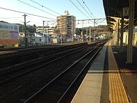 Platform 1 of Kamegawa Station.JPG