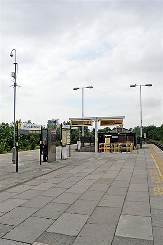 Seaforth & Litherland railway station - Image: Platform Entrance, Seaforth and Litherland Railway Station (geograph 2994510)