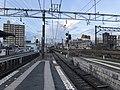 Platform of Omuta Station (Nishitetsu) 3.jpg