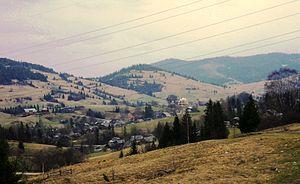 Skole Raion - Image: Plav'ya a village in Ukraine